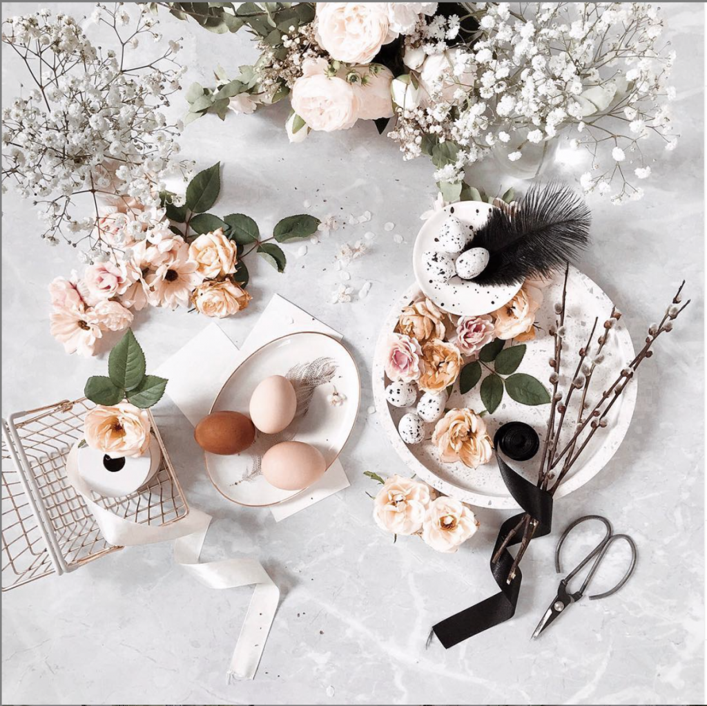 Abstract Easter Tablescape