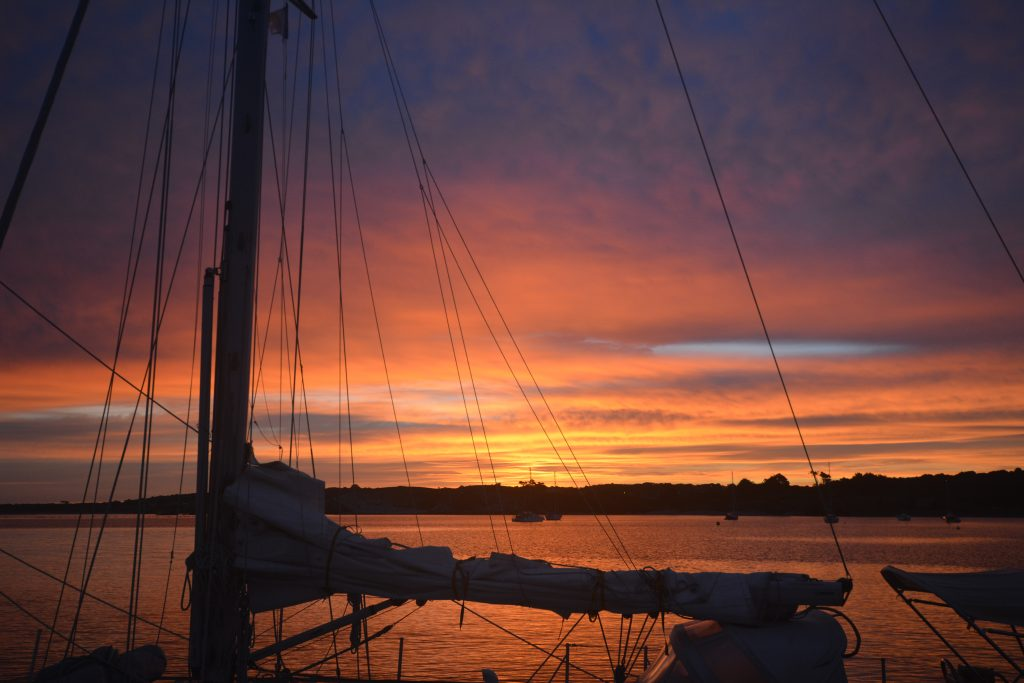 Sunset aboard the Lazy Kingfisher, Isles of Scilly.
