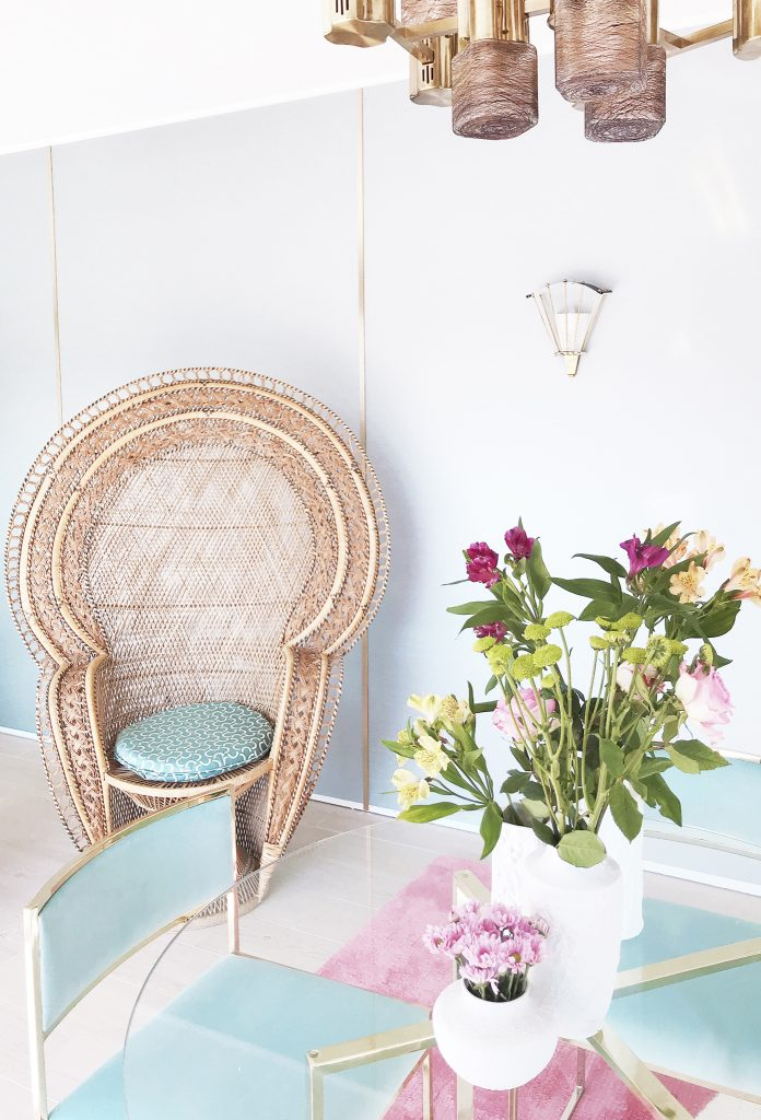Pink and Blue Interior by Patricia Bustos