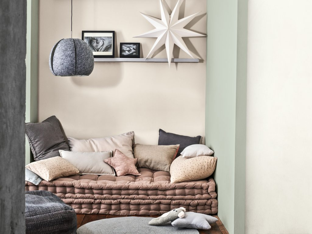 Dulux Colour of the Year 2020: Tranquil Dawn Living Room Inspiration
