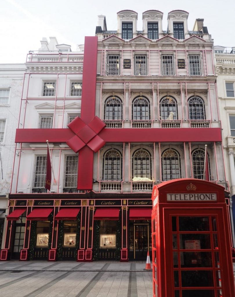 Cartier, London Christmas decorations