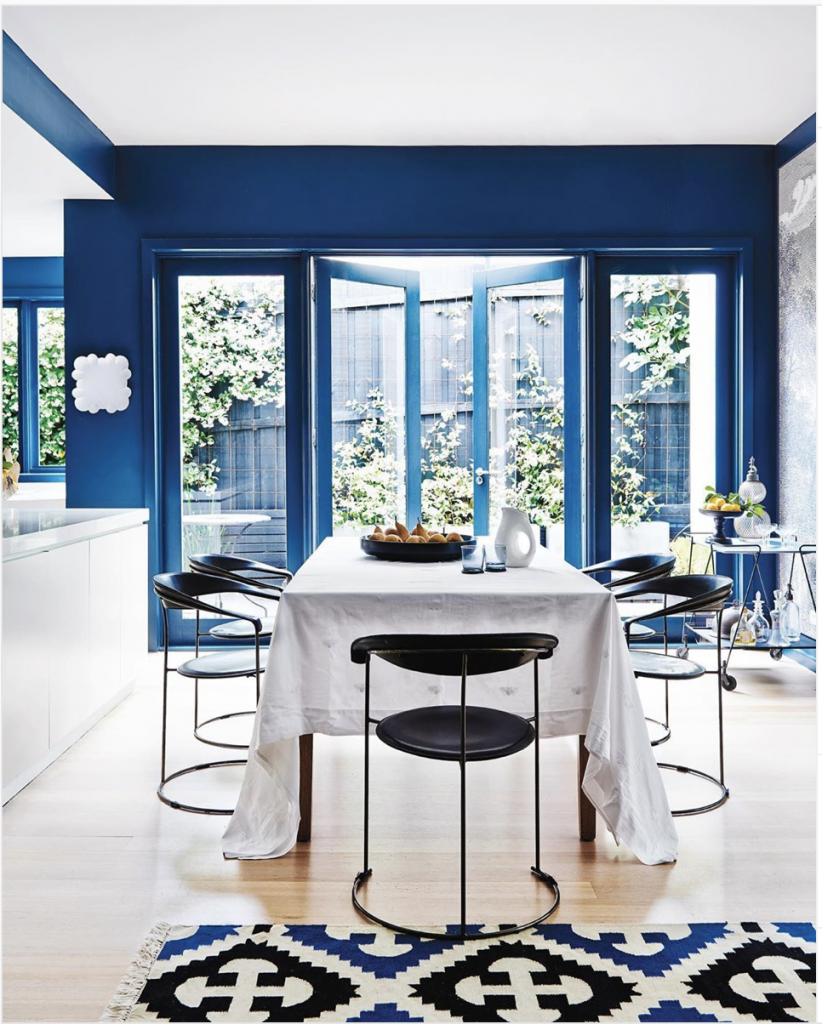 Classic Blue Dining Room