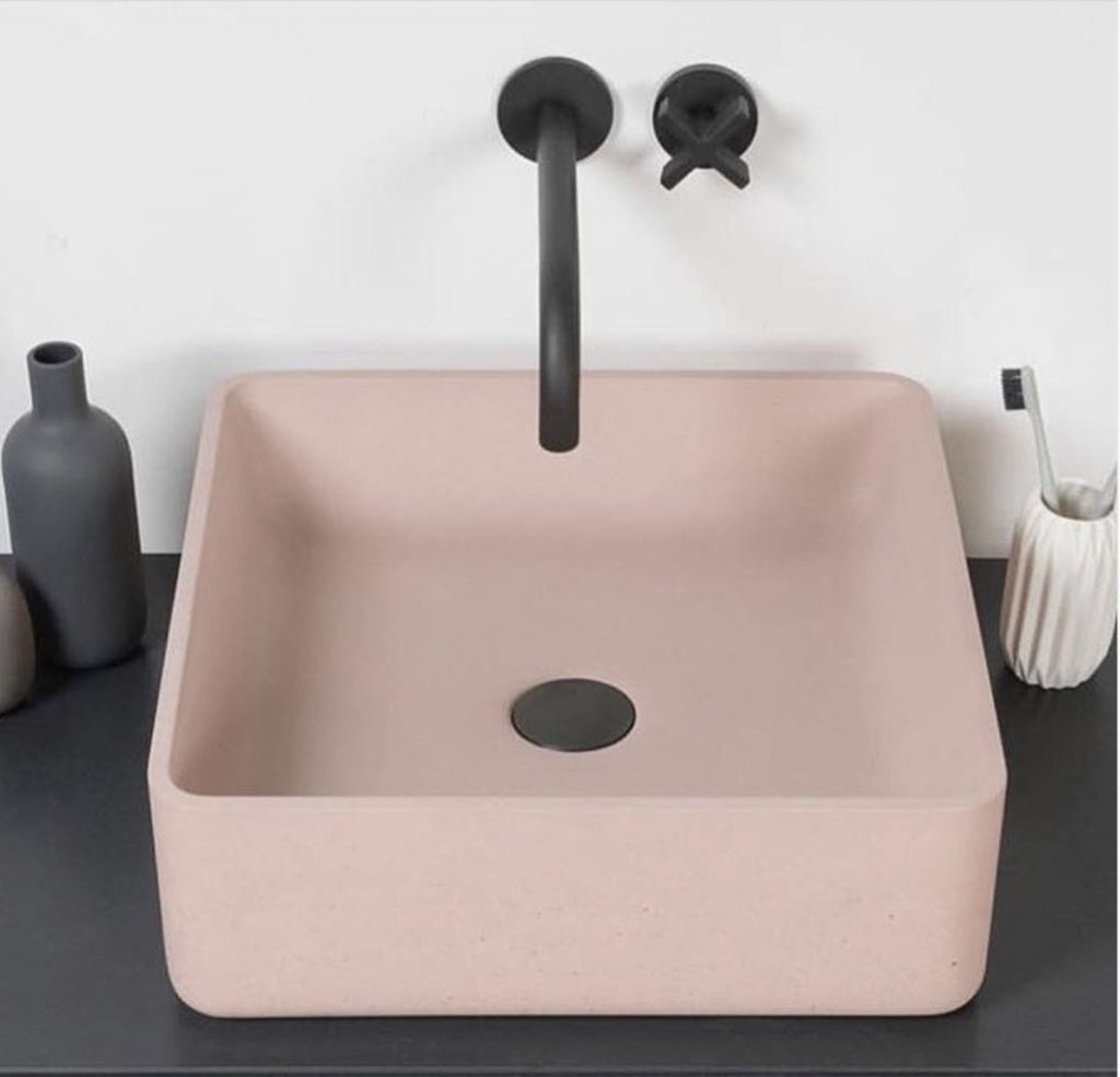 Pink Square Sink