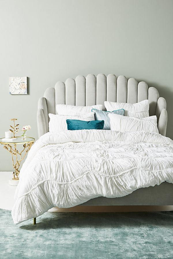 Ruched Wave Quilt + Pillowcases from Anthropologie.