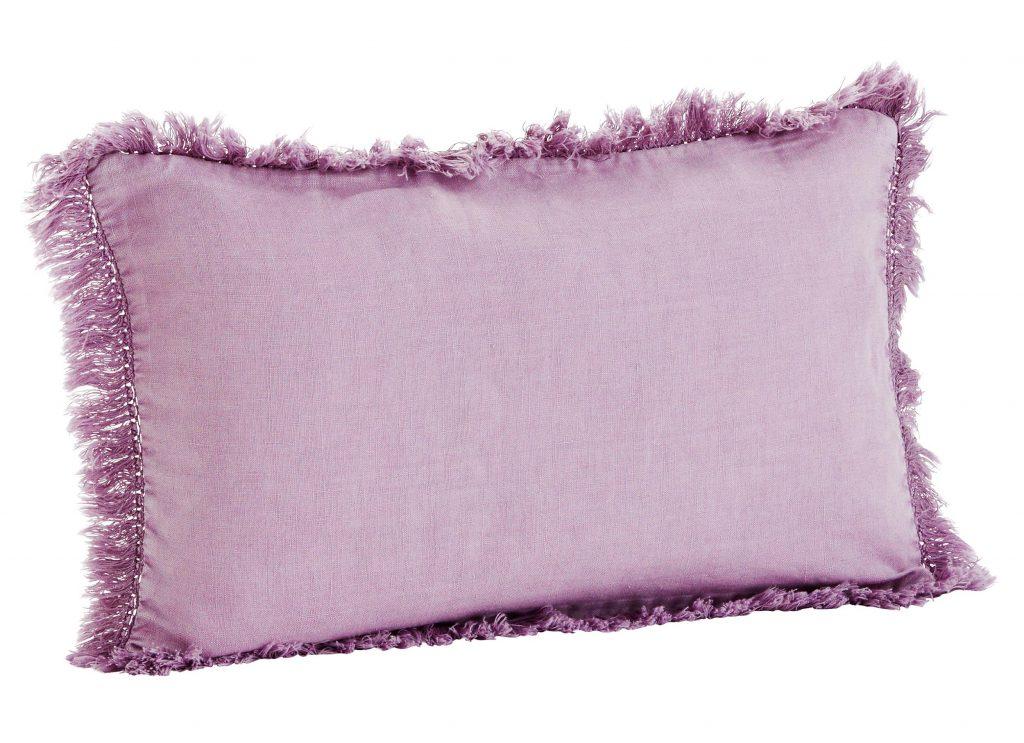 Madam Stoltz ?Fringed Linen Cushion