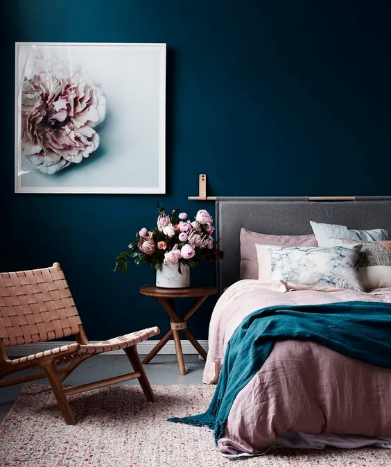 Teal + Blush Room Colour Idea