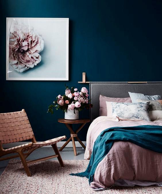 Teal + Blush Room Colour Idea