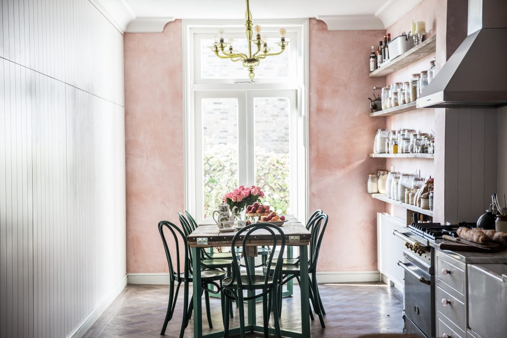 Blush Pink Wall Colour Idea