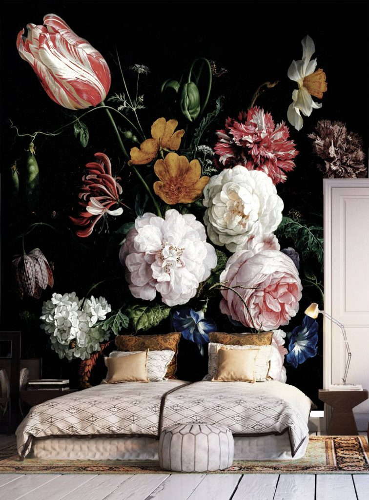 Large Scale Floral Wallpaper from Etsy