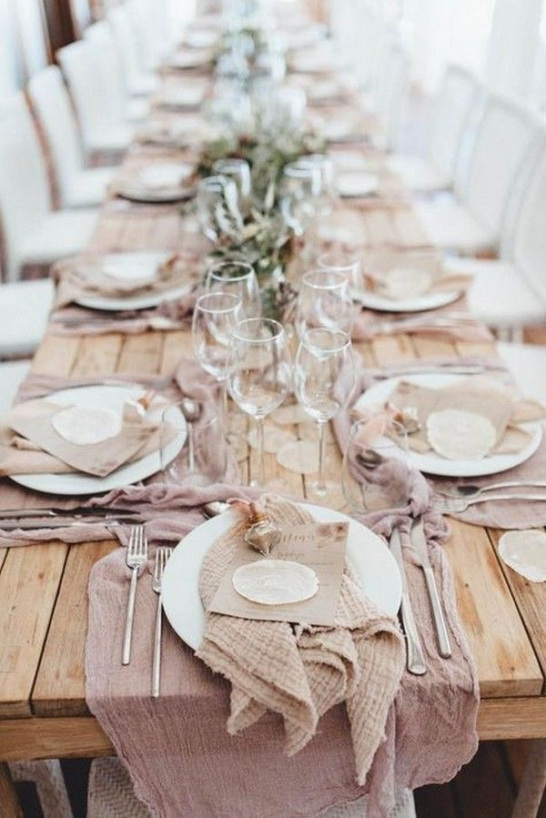Stunning Easter Tablescape: Blush Boho