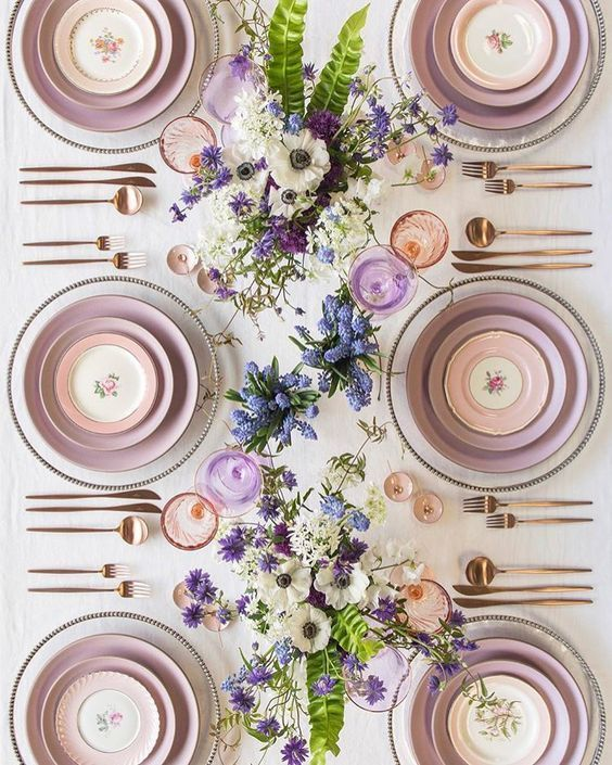 Stunning Easter Tablescape: Mauve