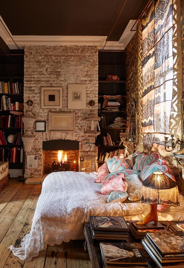 Bedroom, Boho Glam Apartment