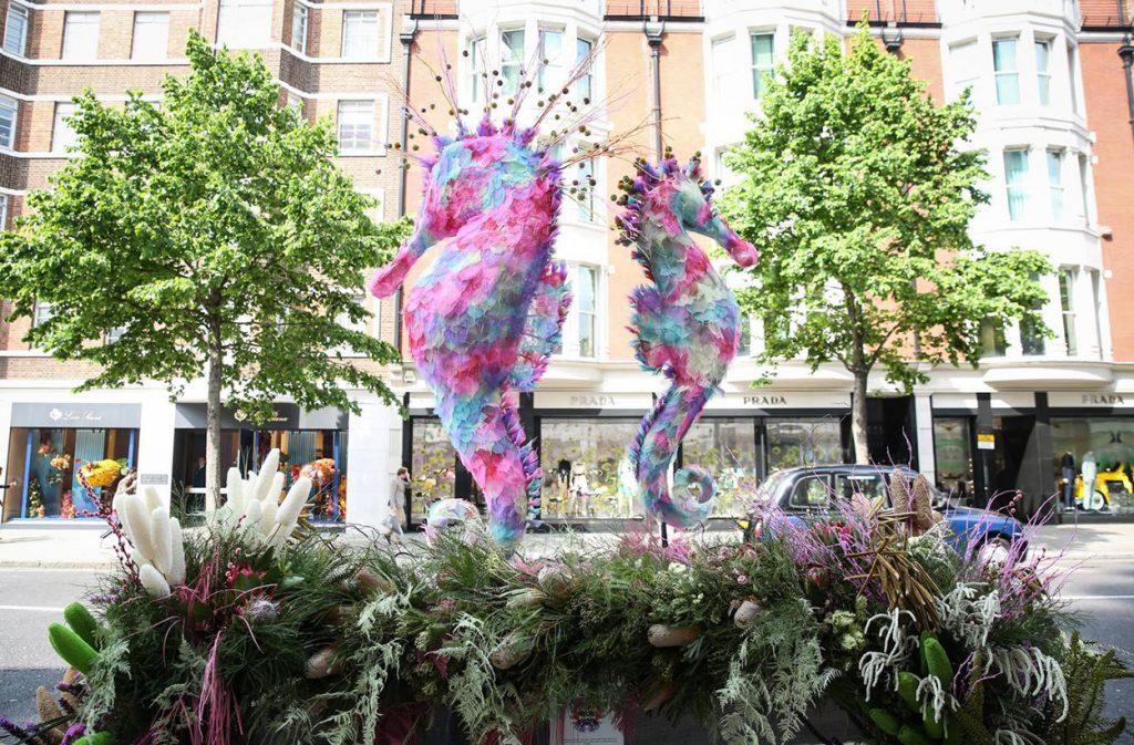 Floral Seahorses, Sloane Street.