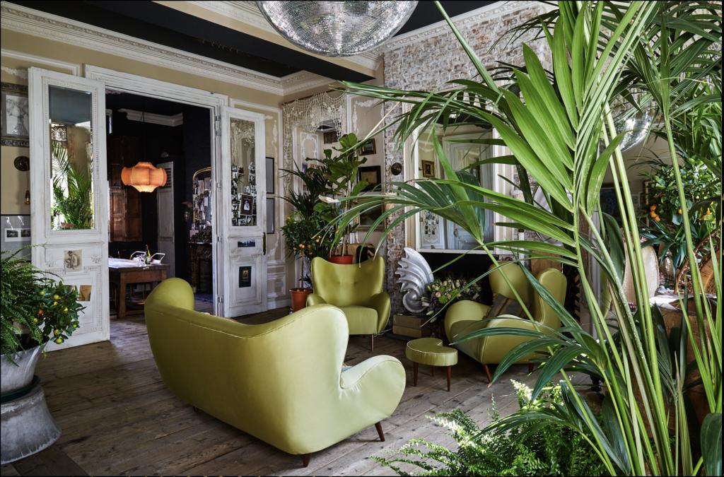Living Room, Boho Glam Apartment