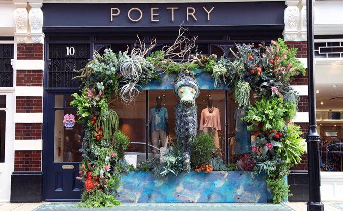 Poetry's under the sea display. Chelsea in Bloom