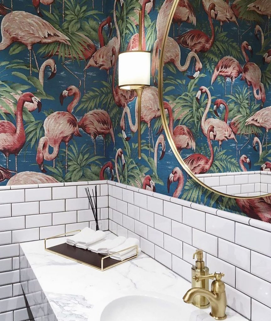 Flamingo Powder Room