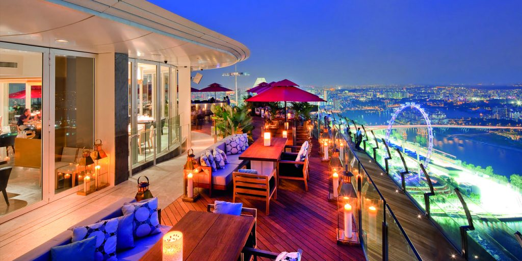 Cé La Vie, Singapore. Restaurants with Breathtaking Views