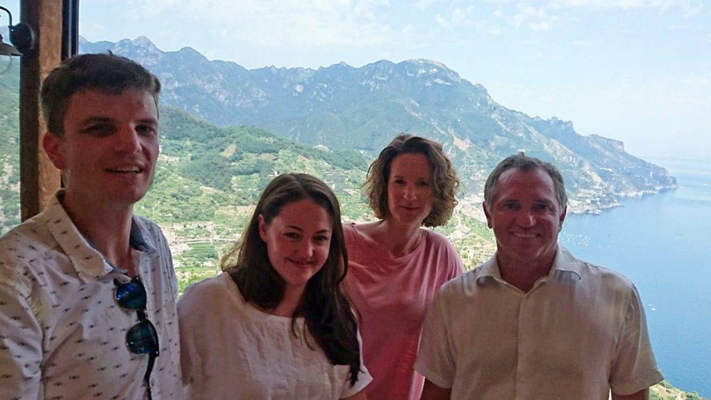 On the terrace at Da Salvatore, Ravello.