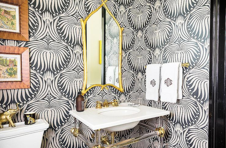 Bold, Glamorous Powder Room