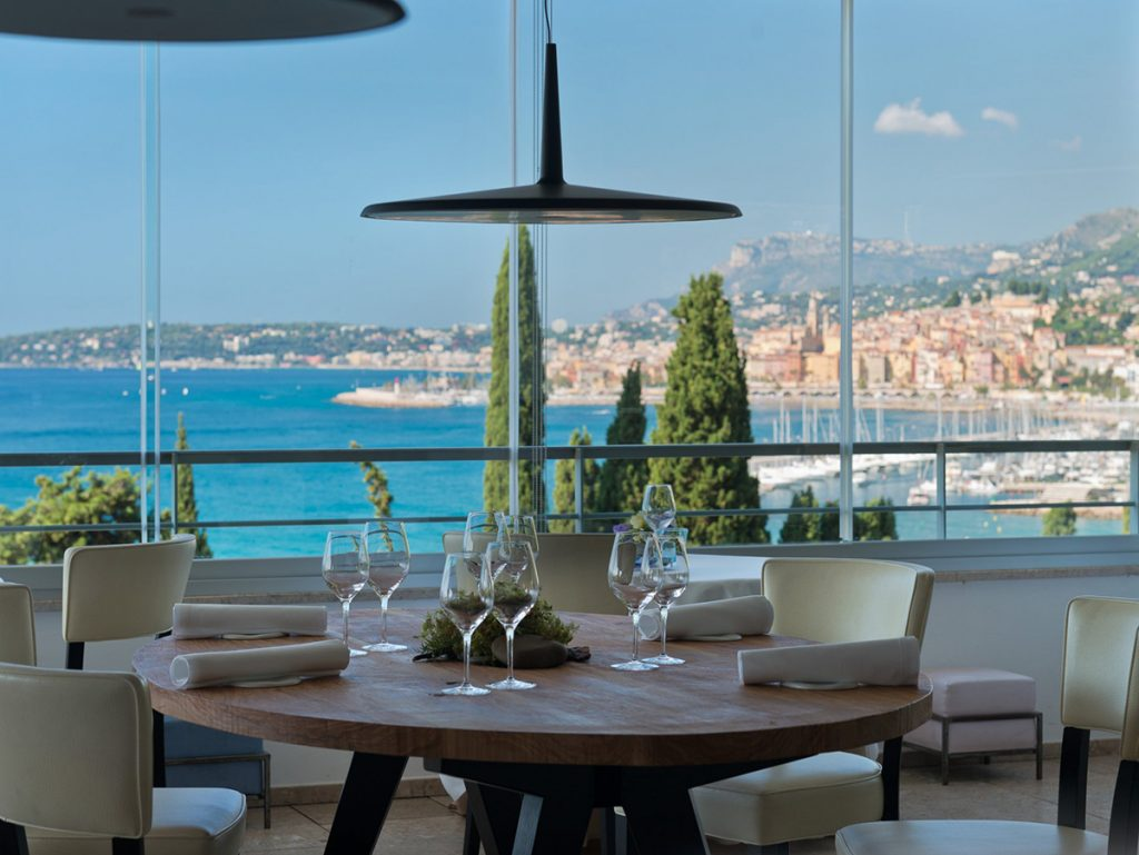 Breathtaking views on the Côte d'Azur from Mirazur, Menton