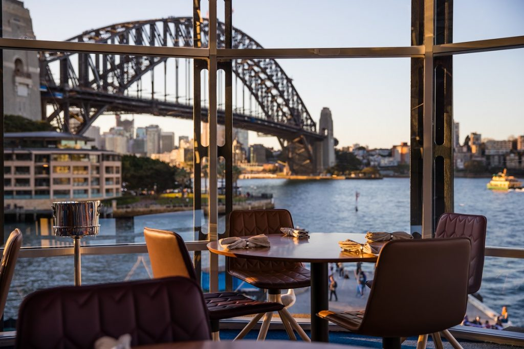 Quay Restaurant, Sydney. View of the bridge