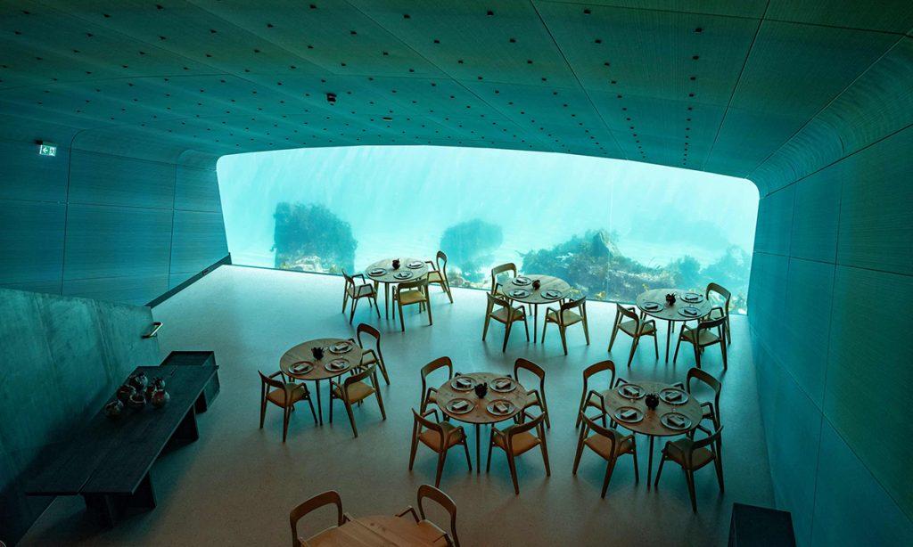Under Restaurant's Breathtaking Underwater View