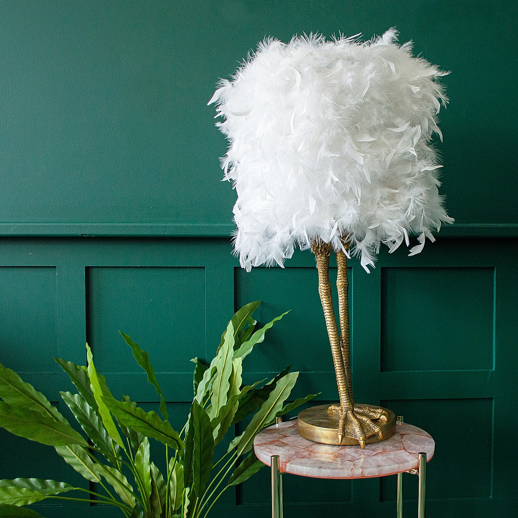 Ruffled Feather Table Lamp