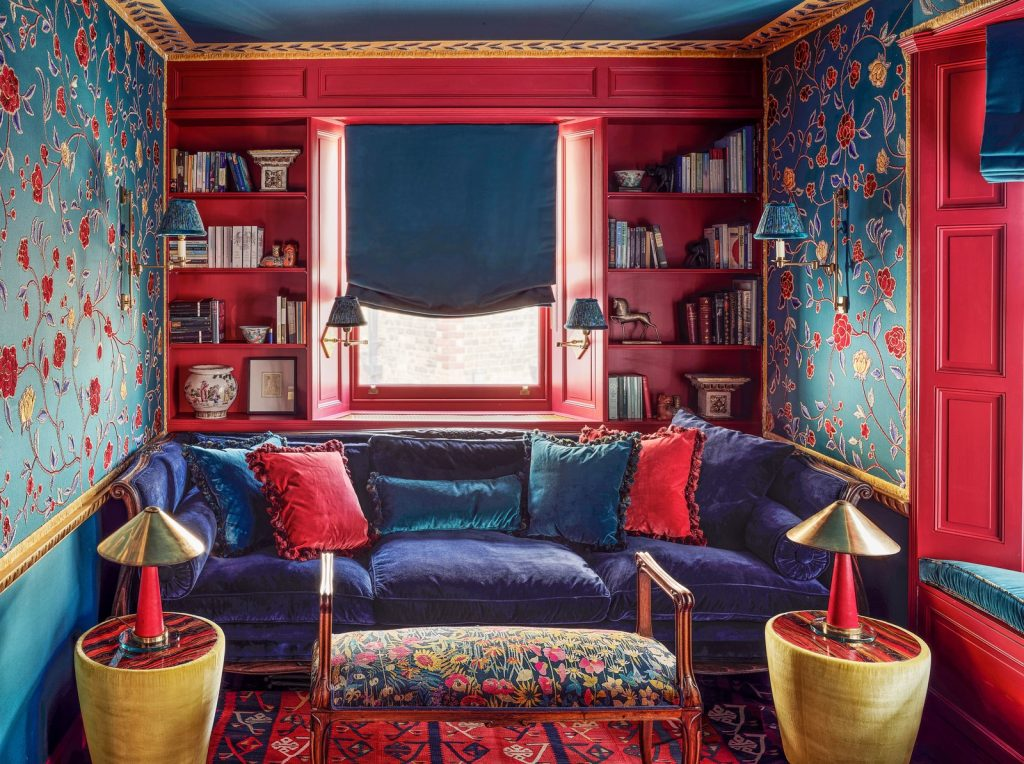 Colourful Maximalist Home Tour: Den