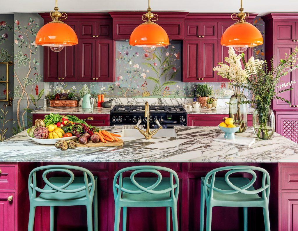 Colourful Maximalist Home Tour: Kitchen