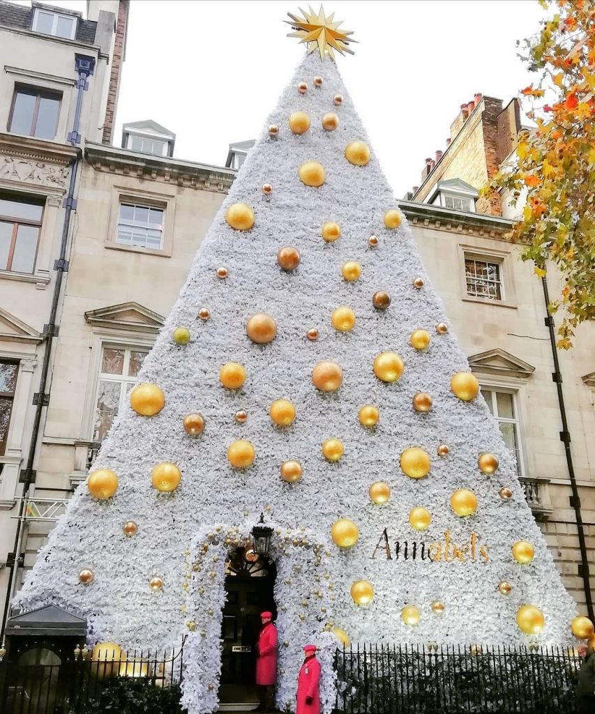 Annabel's Best London Christmas decorations