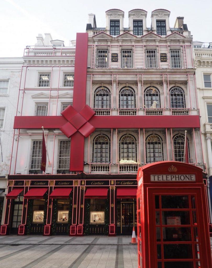 Cartier, London Christmas decorations