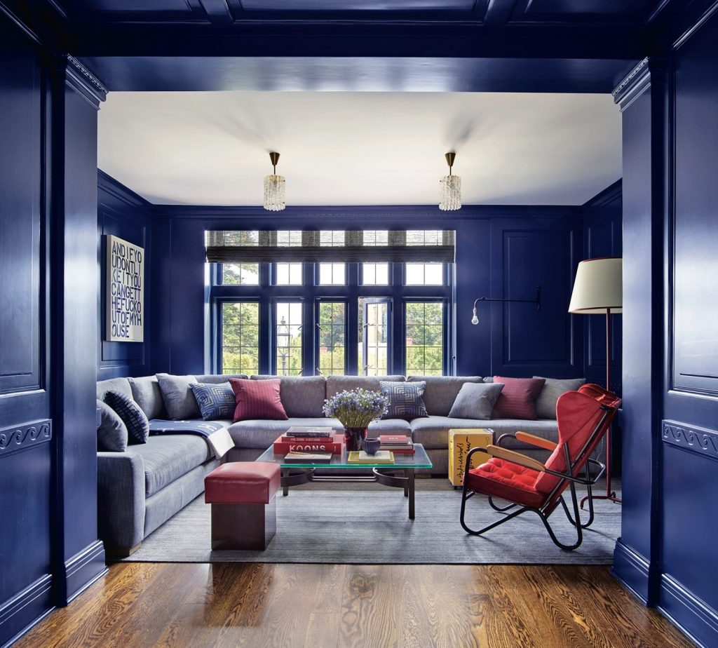 Classic Blue: Media Room