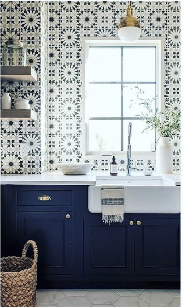 Pantone Colour of the Year: Patterned Kitchen