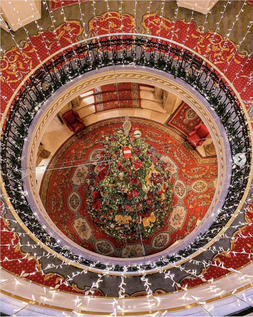The Ritz London Christmas decorations