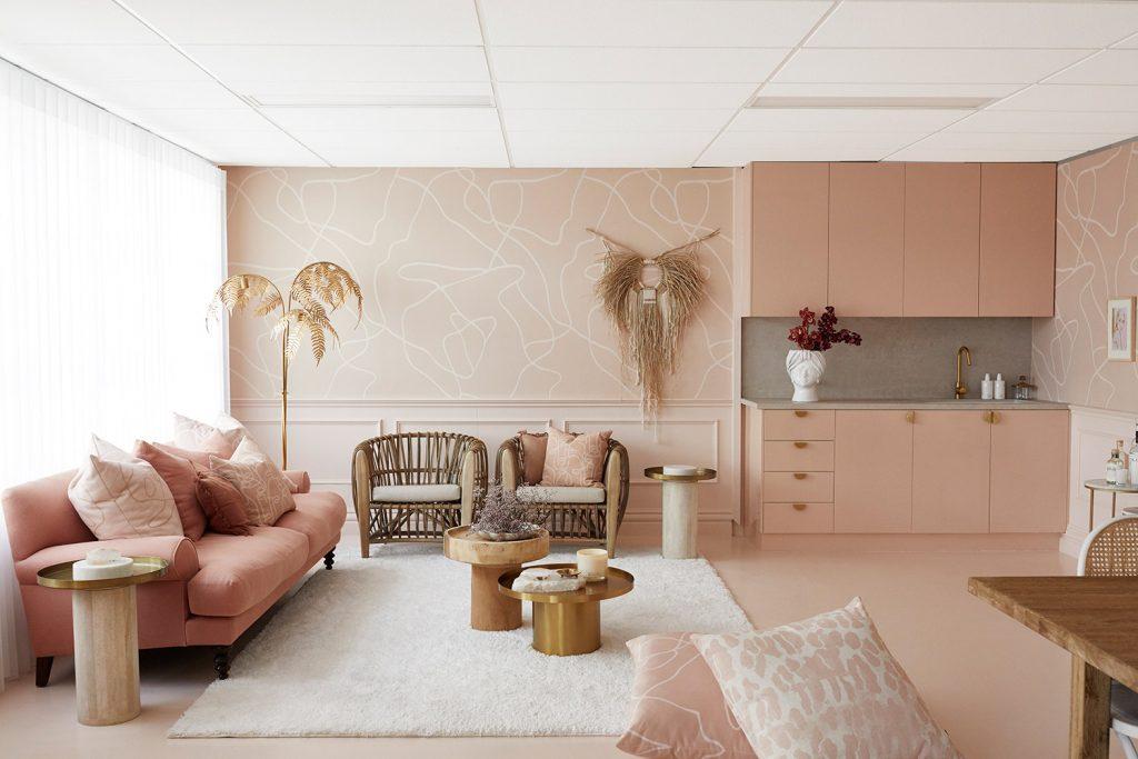 Interior Colour Scheme: Monochromatic Blush