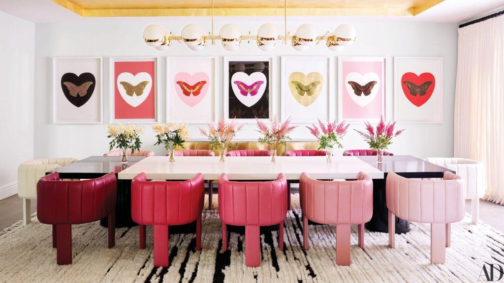 Monochromatic Interior Design: Pink Living Room