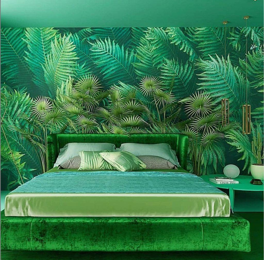 Monochromatic Bedrooms: Green