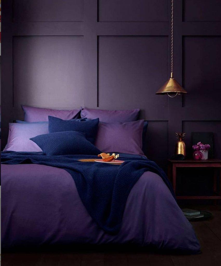 Monochromatic Bedrooms: Indigo