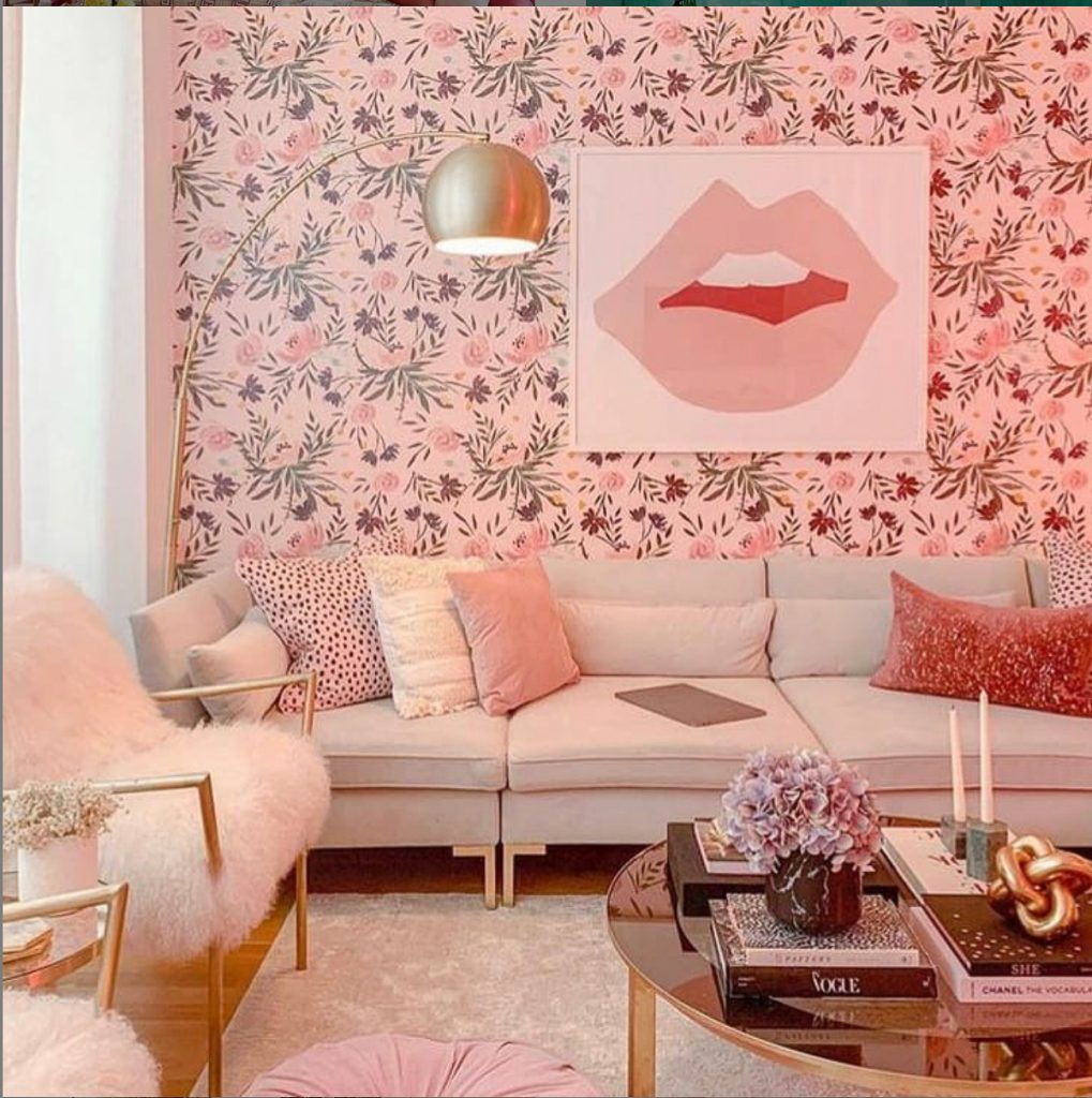 Pink Monochromatic Interior Design