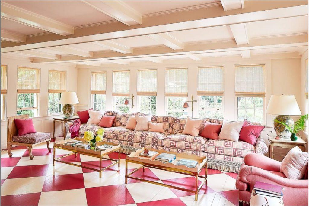 Monochromatic Interior Design: Hamptons Sunroom