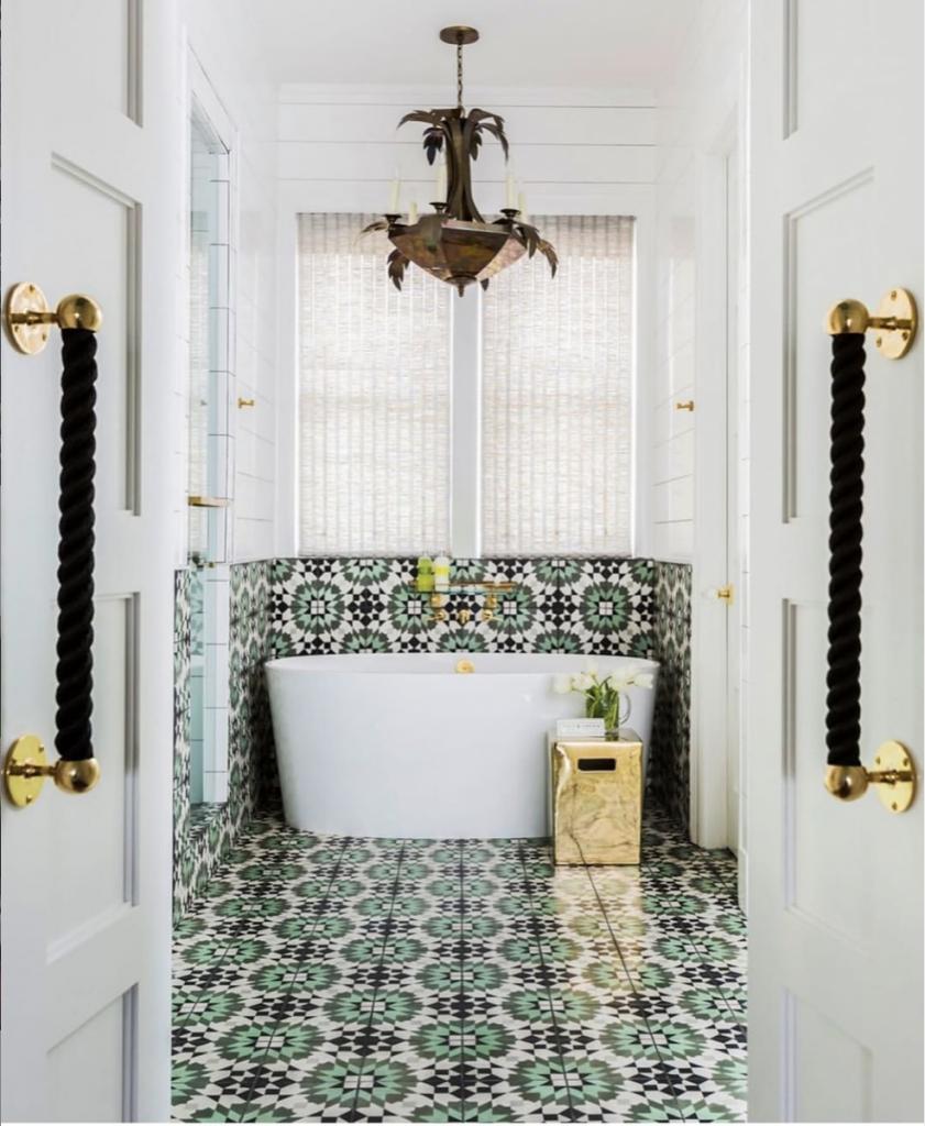 Bold Bathroom Tile Design